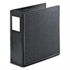 "SuperLife Easy Open Locking Slant-D Ring Binder, 4"" Cap, 11 x 8 1/2, Black"
