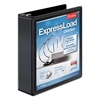"Cardinal ExpressLoad ClearVue Locking D-Ring Binder, 2"" Cap, 11 x 8 1/2, Black"