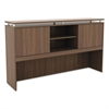 Sedina Series Hutch with Sliding Doors, 66w x 15d x 42 1/2h, Modern Walnut