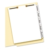Write-On Tab Dividers for Classification Folders, 5-Tab, Letter