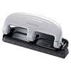 inPRESS Three-Hole Punch, 20-Sheet Capacity, Black/Silver