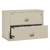 Two-Drawer Lateral File, 31-1/8w x 22-1/8d, UL Listed 350°, Ltr/Legal, Parchment