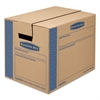 Bankers Box SmoothMove Prime Small Moving Boxes, 16l x 12w x 12h, Kraft/Blue, 15/CT