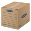 Bankers Box SmoothMove Basic Small Moving Boxes, 16l x 12w x 12h, Kraft/Blue, 25/BD