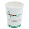 NatureHouse Compostable Live-Green Art Hot Cups, 8oz, White, 50/Pack