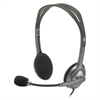 Logitech H111 Binaural Over-the-Head, Stereo Headset, Black/Silver
