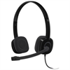 Logitech H151 Binaural Over-the-Head Stereo Headset, Black