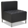 Alera Alera QUB Series Armless L Sectional, 26 3/8 x 26 3/8 x 30 1/2, Black