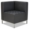 Alera Alera QUB Series Corner Sectional, 26 3/8 x 26 3/8 x 30 1/2, Black