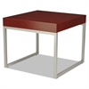Occasional Corner Table, 23 5/8w x 23 5/8d x 20h, Mahogany/Silver