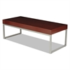 Alera Occasional Coffee Table, 47 1/4w x 20d x 16h, Mahogany/Silver