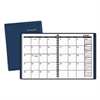 Monthly Planner, 6 7/8 x 8 3/4, Navy, 2017