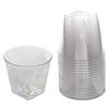 WNA Milan Tumblers, 9 oz, Plastic, Clear, 16 Tumblers/Bag, 15 Bags/Carton