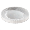 "Classicware Plastic Plates, 9"" Dia., Clear, 12 Plates/Pack, 15 Packs/Carton"