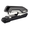 Supreme S50 SuperFlatClinch Half Strip Stapler, 50-Sheet Capacity, Black/Gray