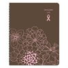 Sorbet Weekly/Monthly Appointment Book, 8 1/4 x 10 7/8, Brown/Pink, 2017