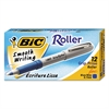 BIC Grip Stick Roller Ball Pen, Blue Ink, .7mm, Fine, Dozen