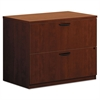 basyx BL Laminate Two Drawer Lateral File, 35 1/2w x 22d x 29h, Medium Cherry