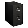 basyx H410 Series Two-Drawer Locking Vertical File, 15w x 22d x 26-1/8h, Black