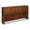 basyx Wood Veneer Hutch With Wood Doors, 72w x 14-5/8d x 37-1/8h, Bourbon Cherry