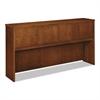 basyx Wood Veneer Hutch With Wood Doors, 72w x 14-5/8d x 37-1/8h, Bourbon Cherry