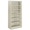 HON 600 Series Steel Open Shelving, Six-Shelf, 36 x 16-3/4 x 75-7/8, Light Gray