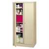 basyx Easy-to-Assemble Storage Cabinet, 36w x 18d x 72h, Putty