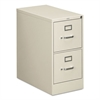 HON 310 Series Two-Drawer, Full-Suspension File, Letter, 26-1/2d, Light Gray