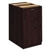 BW Veneer Series Box/Box/File Pedestal File, 15-5/8w x 22d x 27-3/4h, Mahogany