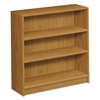 HON 1870 Series Bookcase, Three Shelf, 36w x 11 1/2d x 36 1/8h, Harvest