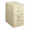 basyx H410 Series Two-Drawer Locking Vertical File, 15w x 22d x 26-1/8h, Putty