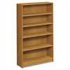 HON 1870 Series Bookcase, Five Shelf, 36w x 11 1/2d x 60 1/8h, Harvest