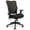 basyx VL702 Series High-Back Swivel/Tilt Work Chair, Black Mesh