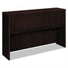 basyx Laminate Hutch With Four Doors, 60w x 14 5/8d x 37 1/8h, Mahogany