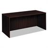 BL Laminate Series Rectangular Desk Shell, 66w x 30w x 29h, Mahogany