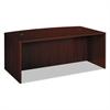 BL Laminate Series Bow Front Desk Shell, 72w x 42w x 29h, Mahogany