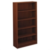 basyx BL Laminate Series Five Shelf Bookcase, 32w x 13 13/16d x 65 3/8h, Medium Cherry