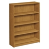 HON 1870 Series Bookcase, Four Shelf, 36w x 11 1/2d x 48 3/4h, Harvest