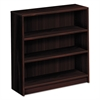 HON 1870 Series Bookcase, Three Shelf, 36w x 11 1/2d x 36 1/8h, Mahogany