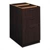 BL Laminate Three Drawer Pedestal File, 15 5/8w x 21 3/4d x 27 3/4h, Mahogany