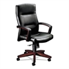 HON 5000 Series Park Avenue Executive High-Back Swivel/Tilt Chair, Blackl/Mahogany