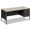 Metro Classic Right Pedestal Desk, 66w x 30d, Gray Pattern/Charcoal