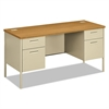 Metro Series Kneespace Credenza, 60w x 24d x 29 1/2h, Harvest/Putty