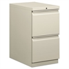 Efficiencies Mobile Pedestal File w/Two File Drawers, 22-7/8d, Light Gray