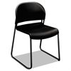 GuestStacker Series Chair, Black with Black Finish Legs, 4/Carton