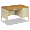 HON Metro Classic Right Pedestal Desk, 48w x 30d x 29 1/2h, Harvest/Putty