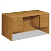 HON 10500 Series 3/4-Height Double Pedestal Desk, 60w x 30d x 29-1/2h, Harvest