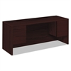 HON 10500 Series Kneespace Credenza With 3/4-Height Pedestals, 72w x 24d, Mahogany