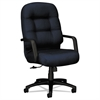 HON 2090 Pillow-Soft Series Executive High-Back Swivel/Tilt Chair, Mariner/Black
