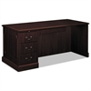 HON 94000 Series Desk For Right Return, 66w x 30d x 29-1/2h, Mahogany